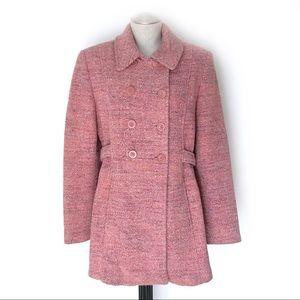 Marvin Richards Pink Tweed Coat Size 6